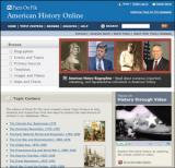 American History Database Screenshot