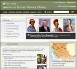 American Indian History Database Screenshot