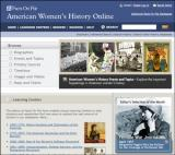 American Women's History Database Screenshot