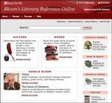 Bloom's Literary Reference Database screenshot