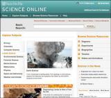 Science Online Database screenshot