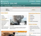 Science Online Database screenshot